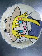 ケーキに書いてみました^^;