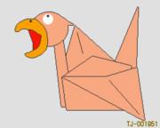 ごく普通の折り鶴