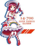 【擬人化】スーパーエクスプレスレインボー
