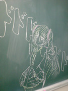 黒板にでっかく落書き