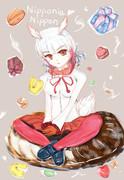 お菓子いっぱいのトキ