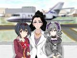 蘭子と美穂が心配な美城常務がプライベートジェットで迎えに来てくれました