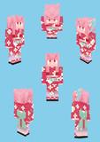 【Minecraft】琴葉茜:浴衣衣装【Alex】
