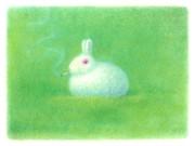 ウサギだって一服…。