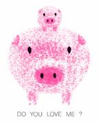 親子ブタ(Pink Pigs)
