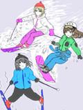 スキー場ロケの前にラブライカに特訓してもらう鷺沢文香さん