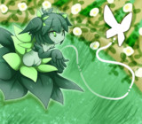 霊園の新緑
