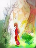 日本鬼子と深い森 (自動着色・PaintsChaner)