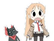 過去に来た際に黒猫になってしまったオカリンと留学する前のまきせ氏