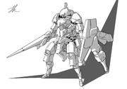 騎士ロボの線画