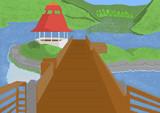 ガゼボと橋