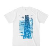 シンプルデザインTシャツ 青々鉄塔