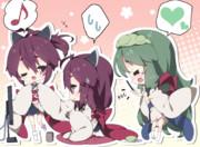 ■支援絵■【ずんきり実況】ずん子「私の可愛い妹達が歌ってメイドさんしてヤギになるお話」