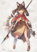 部族の女の子