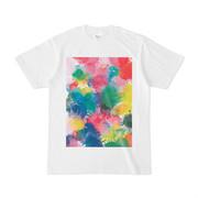 シンプルデザインTシャツ ペンキを塗るゲーム風