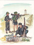 ベトナム人民軍トラップを仕掛ける