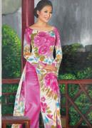 ベトナム アオザイ女性1