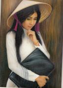 ベトナム アオザイ女性2