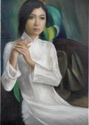 ベトナム アオザイ女性3
