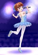 バレエ風衣裳を着たアイドル少女