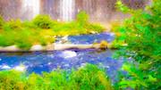 舗装された川