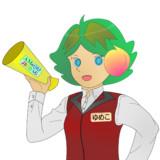 JR8DAGのAM & QRP ホームページのイメージキャラクターのゆめこ(家電量販店風制服)