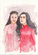 アオザイ女性二人