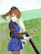 クレー射撃部に入部した新田美波さん