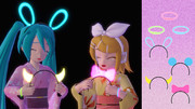 【MMDアクセサリ配布】光るカチューシャと腕輪