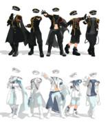 【MMD衣装配布】軍服風衣装5種