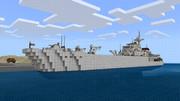 【マイクラPE】戦車揚陸艦作ってみた
