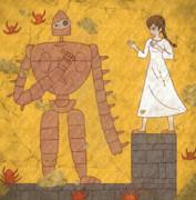 【壁画】シータとロボット兵