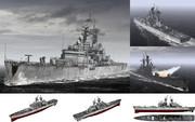 MMD用モブ原子力巡洋艦1980(モブフォルニア)セット