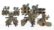 試製決戦兵器 雷鎚 っぽい機体
