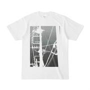 シンプルデザインTシャツ 電柱白黒