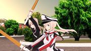 菊月から武道を学ぶグラーフ