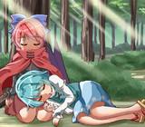 朝の森で寝てるこがばん