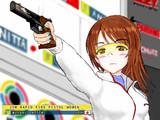 ピストル射撃の国際大会に出場した新田美波さん