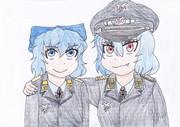 チルノ少尉とレミリア中佐