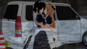 Jervisと助けに来たメイド姿の時雨