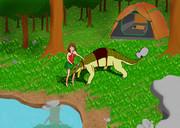 少女と恐竜