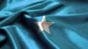 たなびくソマリア国旗