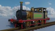 [Blender]LB&SC鉄道 A1X class 蒸気機関車 No.55「ステップニ―」
