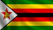 はためくジンバブエ国旗 リアル