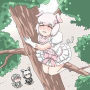 おだてられて木に登ってみたものの