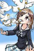 口から鳩を生み出す真乃ちゃん