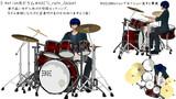 d-motion用ドラム5タム初期ポーズ&握り(VMD)