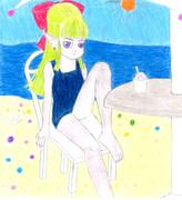 学園女子の水着のフウラ