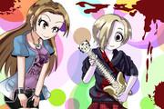 涼さんにギターを教わる小梅ちゃん