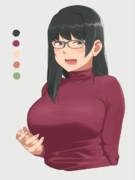 眼鏡お姉さん